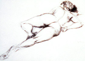 Illustration of a Nude by Doug Peters